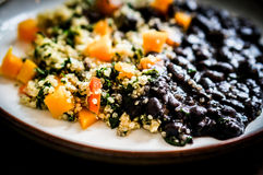 Quinoa with vegetables and black beans Royalty Free Stock Photography