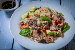 Quinoa with vegetables royalty free stock image