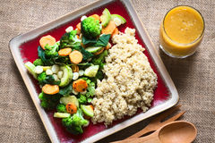 Quinoa with Vegetables Royalty Free Stock Photos
