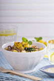 Quinoa with vegetables and pineapple Stock Photos