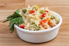 Quinoa with vegetables royalty free stock photo