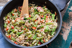 Quinoa and veggies Royalty Free Stock Images