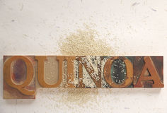 Quinoa with word Stock Photography