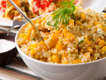 Quinoa z kukurydzaną sałatką Fotografia Royalty Free