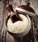 Quinoa zaden Stock Afbeelding