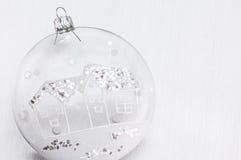 Quinquilharia transparente de Cristmas Imagem de Stock