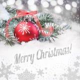 Quinquilharia vermelha do Natal e um subtítulo fotografia de stock