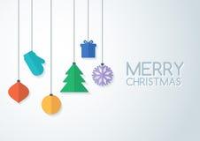 Quinquilharias coloridas abstratas do vetor Backgrou do Natal ou do ano novo Fotos de Stock Royalty Free