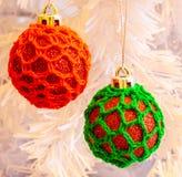 Quinquilharias da árvore de Natal Fotos de Stock
