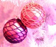 Quinquilharias da árvore de Natal Imagem de Stock