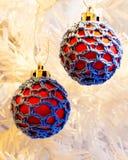 Quinquilharias da árvore de Natal Fotografia de Stock Royalty Free