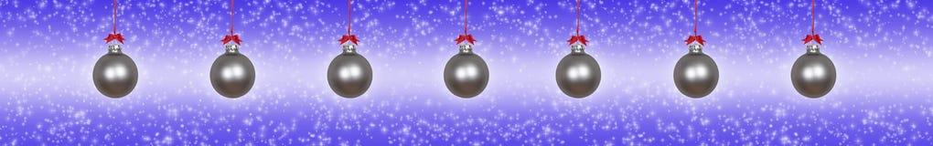 Quinquilharias de prata do Natal foto de stock