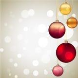 Quinquilharias e flocos de neve do Natal Imagem de Stock