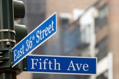 Quinta Avenida Imagen de archivo