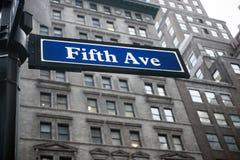 Quinta avenida Fotografía de archivo