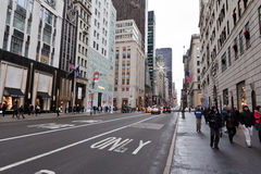 Quinta Avenida New York City Fotos de Stock Royalty Free