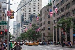 Quinta Avenida Rockefeller New York City de centro Imágenes de archivo libres de regalías