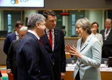 Quinta cumbre del este de la sociedad en Bruselas foto de archivo