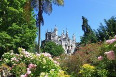 Quinta da Regaleira. Garden of Quinta da Regaleira in Sintra, Portugal royalty free stock photos