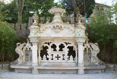 Quinta da Regaleira bench Royalty Free Stock Photo