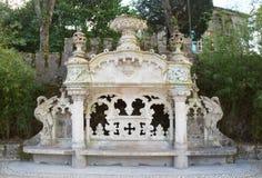 Quinta da Regaleira bench Royalty Free Stock Photo