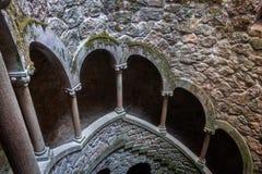 Quinta da Regaleira, il simbolo massonico di Sintra immagine stock libera da diritti