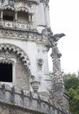 Quinta da Regaleira Palace em Sintra, Portugal Parte da construção Fotografia de Stock Royalty Free