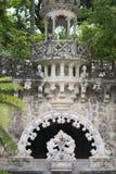 Quinta da Regaleira Palace en Sintra, Portugal Parte del parque Foto de archivo libre de regalías