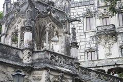 Quinta da Regaleira Palace en Sintra, Portugal visión al aire libre desde la calle Fotografía de archivo libre de regalías