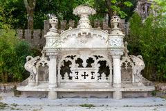 Quinta da Regaleira Palace i Sintra, Lissabon, Portugal Royaltyfri Bild