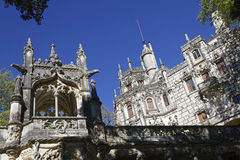 Quinta da Regaleira palace outsides Stock Photos
