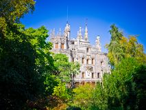 Quinta da Regaleira. Palace and park complex in Portugal Royalty Free Stock Photography