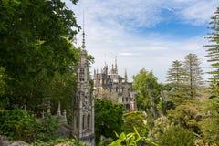 Quinta da Regaleira Palace Sintra, Portugal (Maj 6, 2015) Arkivbild