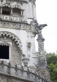 Quinta da Regaleira palace in Sintra, Portugal. part of building Royalty Free Stock Photography