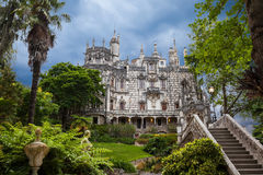 Quinta da Regaleira in Sintra, Portugal. In the palace and the park are hidden symbols related to alchemy, Masonry, the Knights Templar, and the Rosicrucians Stock Photo