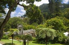 Quinta da Regaleira - visión desde la casa principal Imagen de archivo
