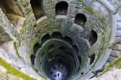 Quinta da Regaleira, The well Stock Images