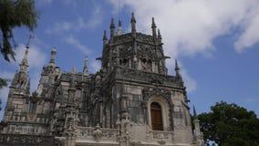 Quinta de Regaleira Πορτογαλία - χρονικό σφάλμα κάστρων απόθεμα βίντεο