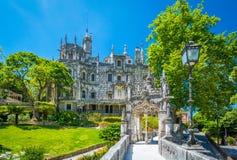 Quinta a Dinamarca Regaleira em Sintra, Portugal imagem de stock