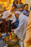 Quinta-feira santamente em Stella Maris Carmelite Monastery, Haifa fotos de stock