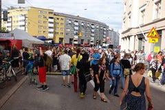 Quinta fiesta de barrio de Kallio en Helsinki, Finlandia Fotografía de archivo libre de regalías