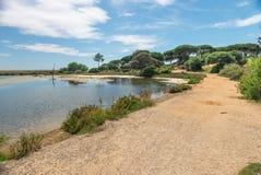 Quinta hace el paisaje de Lago, en Algarve Fotos de archivo libres de regalías