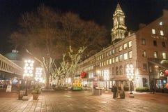 Quintal Boston en la noche foto de archivo libre de regalías