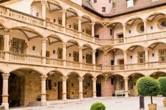 Quintal do castelo velho Estugarda Foto de Stock