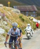 Quintana на дорогах гор - Тур-де-Франс 2015 Стоковые Фотографии RF