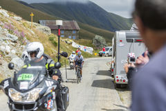 Quintana on the Mountains Roads - Tour de France 2015 Stock Photos
