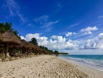 Quintana Roo Beach - Mexico. A walk on the beach of Quintana Roo - Mexico Royalty Free Stock Images