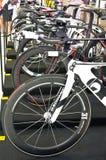 Quintana- Roofahrräder auf Anzeige. Lizenzfreies Stockfoto