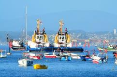 Quintero Χιλή - λιμένας Στοκ εικόνες με δικαίωμα ελεύθερης χρήσης