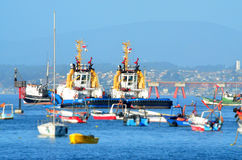 Quintero o Chile - porto Imagens de Stock Royalty Free